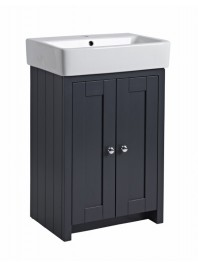 TAVISTOCK LANSDOWN 575MM FREESTANDING UNIT COMPLETE WITH CERAMIC BASIN MATT DARK GREY