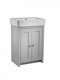 TAVISTOCK LANSDOWN 575MM FREESTANDING UNIT COMPLETE WITH CERAMIC BASIN PEBBLE GREY
