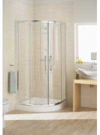 Lakes Classic double door  Offset Quadrant silver
