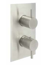 Just taps inox concealed thermostatic two outlet shower valve stainless steel
