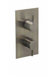 Just taps vos thermostatic concealed one outlet shower valve brushed brass