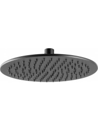 Just taps vos round shower head matt black