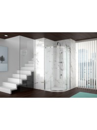Merlyn series 8 one door frameless quadrant open door