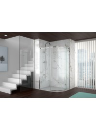 Merlyn series 8 frameless offset quadrant open door