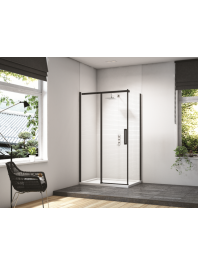 Merlyn black sliding door corner