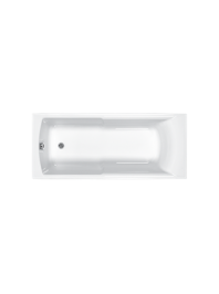 Carron axis carronite single ended bath white