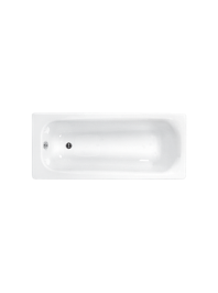Carron britannia single ended carronite bath white