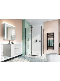 SIMPSON DESIGN 8 HINGED DOOR WITH INLINE PANEL MATT BLACK