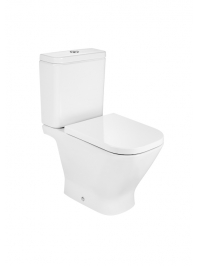 ROCA GAP CLOSE COUPLED TOILET WITH SOFT CLOSE SEAT OPEN BACK