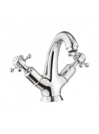 CROSSWATER BELGRAVIA CROSSHEAD HIGH NECK BASIN MIXER WITH WASTE CHROME