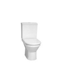Vitra S50 COMPACT CLOSE COUPLED TOILET WITH SOFT CLOSE SEAT OPEN BACK